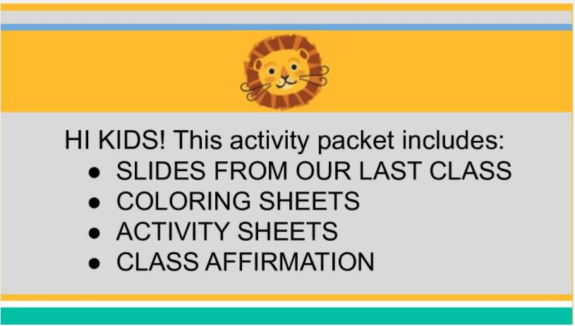 activity sheet cover